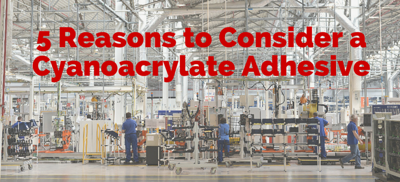cyanoacrylate glue assembly