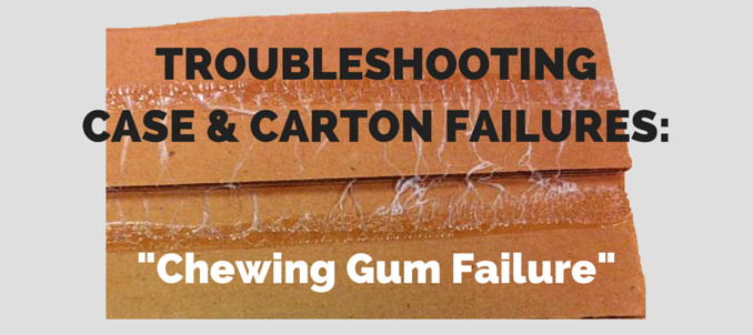 industrial adhesive chewing gum failure